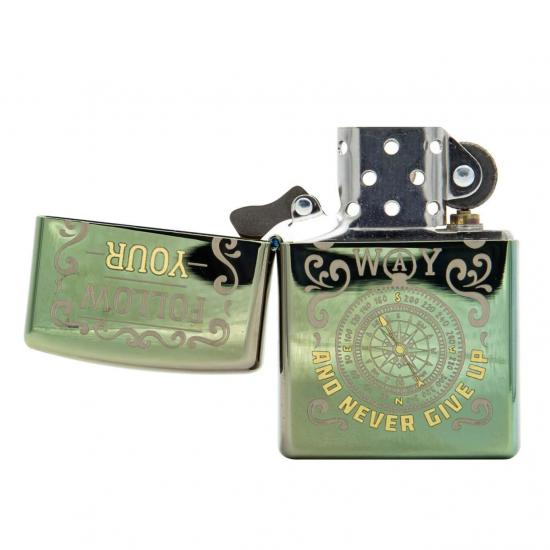 Zapalniczka Zippo 49161 Follow Way Design High Polish Green
